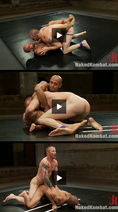 Gay bodybuilder wrestling